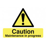 Caution Maintenance In Progress Stanchion Sign