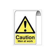 Caution Men At Work Roll Top Sign
