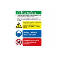 Health And Safety At Work Act Multi Message Site Safety Sign