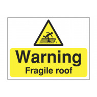 Warning Fragile Roof Construction Sign