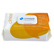 Uniwipe Alcohol Free Clinical Wipes (100 Wipes)