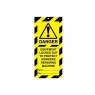 Equipment Locked Out To Protect Workers (Pack Of 10)