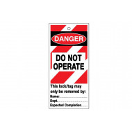 Do Not Operate (Red And White)