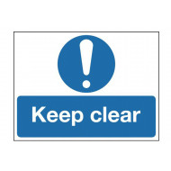 Keep Clear Stanchion Sign