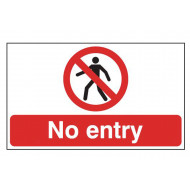 No Entry Stanchion Sign