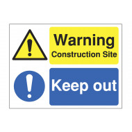 Warning Construction Site Keep Out Site Safety Board