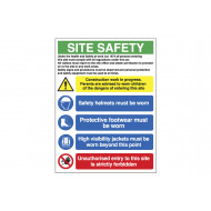 Under the health and safety work act site safety board