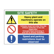 Heavy Plant And Machinery Operate On This Site Safety Sign