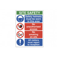 Safety Helmets Must Be Worn In This Area Site Safety Sign