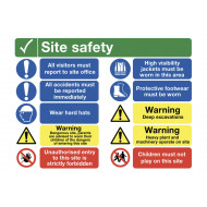 Site Safety All Visitors Must Report To Site Office Site Safety Board