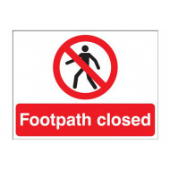 Footpath Closed Stanchion Sign