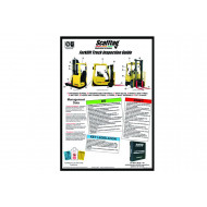 Scafftag Forklift Truck Inspection Guide Wallchart