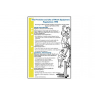 Provision And Use Of Work Equipment Regulations 1998 Wallchart