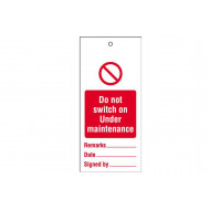 Do Not Switch On Under Maintenance (Pack Of 10)
