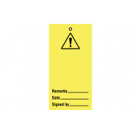 Warning Blank (Pack Of 10)