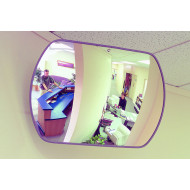Rectangular Acrylic Interior Convex Safety Mirror