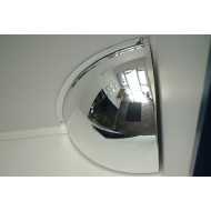 Hemisphere Quarter Face Convex Interior Safety Mirror 450x450mm