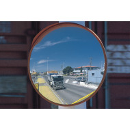Stainless Steel Anti Vandal External Mirror 450mm Dia
