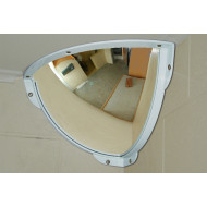 Quarter Dome Stainless Steel Institution Mirror