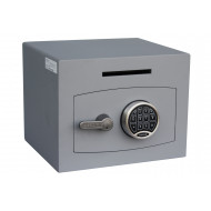Securikey Mini Vault Silver Size 1 Deposit Safe With Electronic Lock (20ltrs)