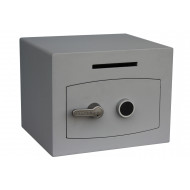 Securikey Mini Vault Silver Size 1 Deposit Safe With Key Lock (20ltrs)