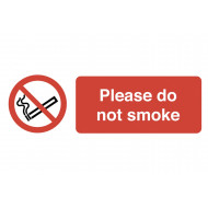 Please Do Not Smoke On The Spot Safety Labels