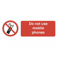 Do Not Use Mobile Phones On The Spot Safety Labels