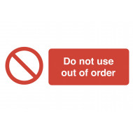 Do Not Use Out Of Order On The Spot Safety Labels