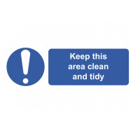 Keep This Area Clean And Tidy On The Spot Safety Labels