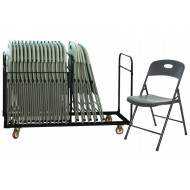 Smart Folding Chair Bundle Deal (28 Chairs & 1 Trolley)