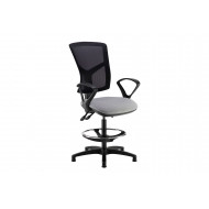 Rapel Mesh Back Draughtsman Chair With Fixed Arms