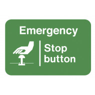 Emergency Stop Button On The Spot Safety Labels