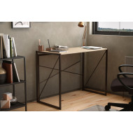 Shen Home Office Desk With Square Legs And Cross Supports (Oak)