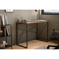 Shen Home Office Desk With Square Legs And Cross Supports (Walnut)