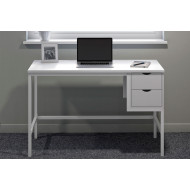 Shen Home Office Desk With 2 Drawers (White)