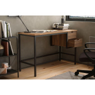 Shen Home Office Desk With 2 Drawers (Walnut)