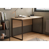 Shen Home Office Desk With Square Leg And Modesty Panel (Oak)