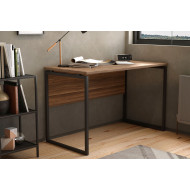 Shen Home Office Desk With Square Leg And Modesty Panel (Walnut)