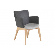 Garza Visitor Chair With 4 Wooden Legs