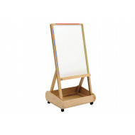 Little Acorns Store & Write Mobile Easel With Storage