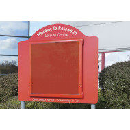 WeatherShield contour freestanding outdoor sign