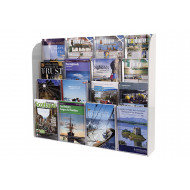 Crystal clear wall mounted leaflet dispenser