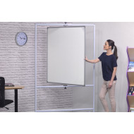 Non-Magnetic Mobile Pivot Writing Boards