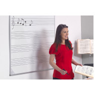 Music Stave Non-Magnetic Writing Boards