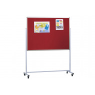 Double Sided Mobile Aluminium Noticeboard