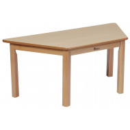 Trapezoidal Wooden Classroom Table