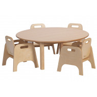 Circular Wooden Table And Chairs