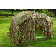 Indoor/Outdoor Folding Den With Camouflage Den Kit