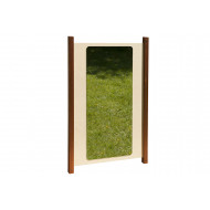 Outdoor play mirror panel