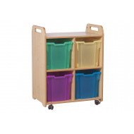 Playscapes Tray Storage Unit With 4 Jumbo Trays